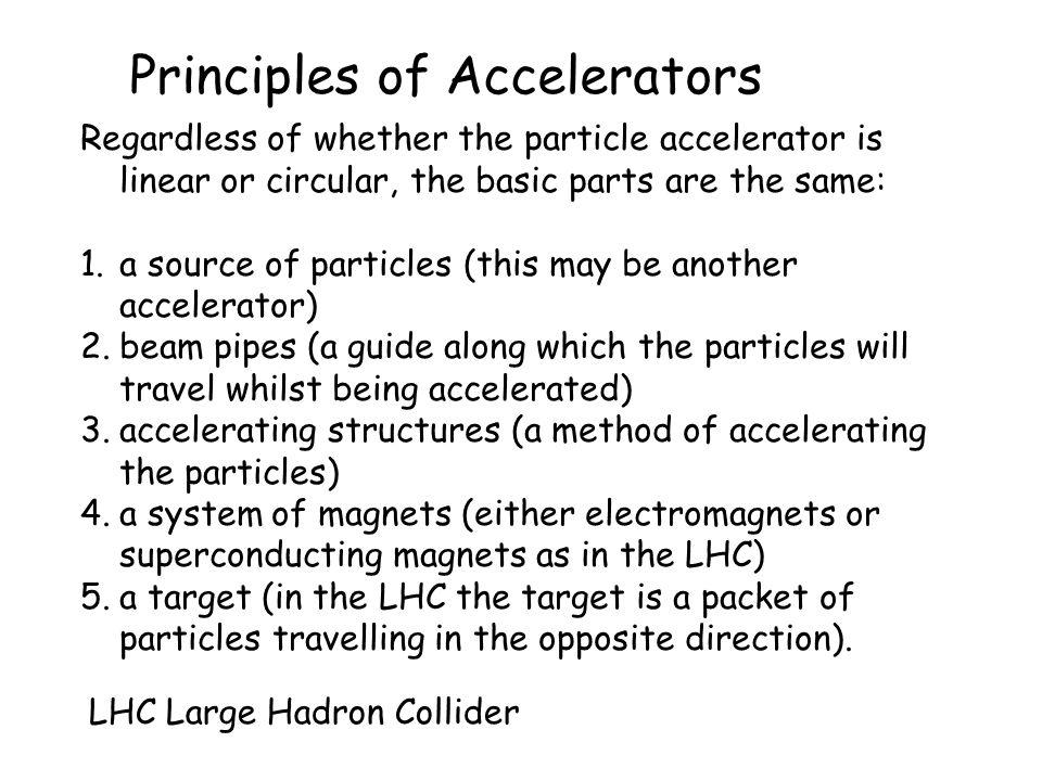 Principles of Accelerators