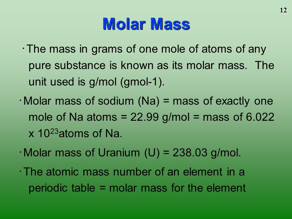 The mole to play the movies and simulations included view the 12 molar mass urtaz Choice Image