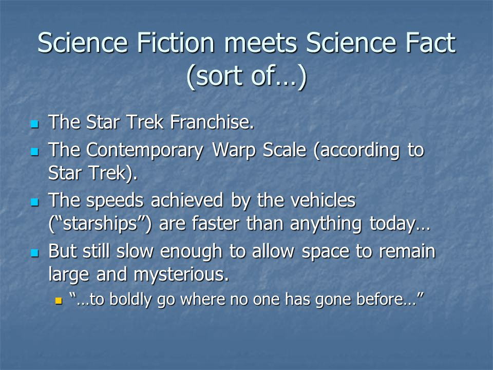 Science Fiction meets Science Fact (sort of…)