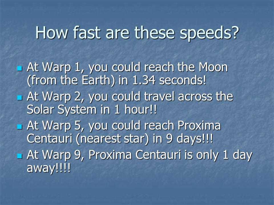 How fast are these speeds