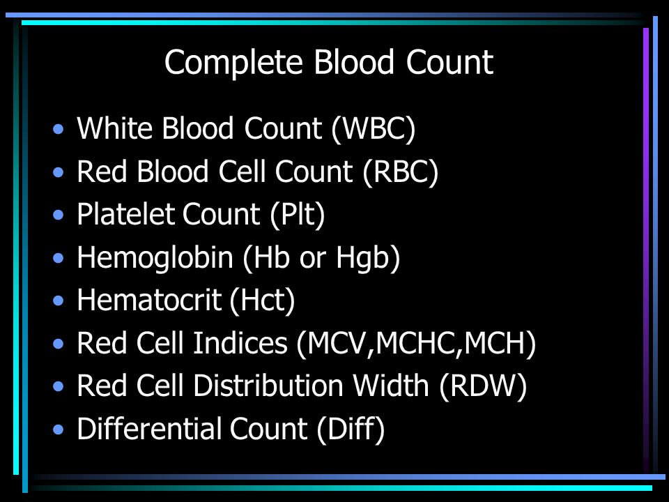 Complete Blood Count White Blood Count (WBC)