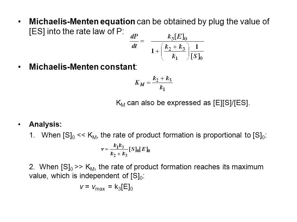 Michaelis-Menten constant: