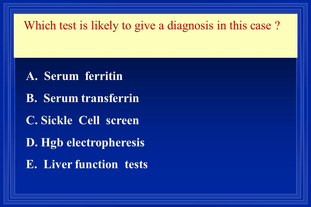 Which test is likely to give a diagnosis in this case
