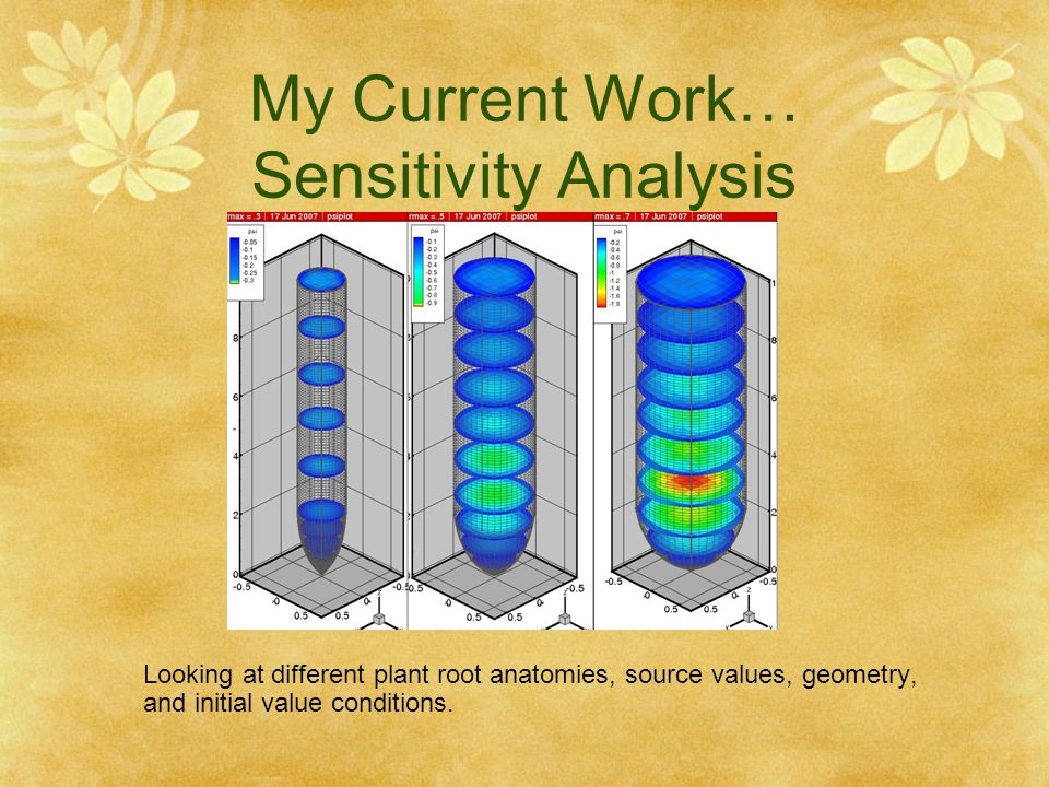 My Current Work… Sensitivity Analysis