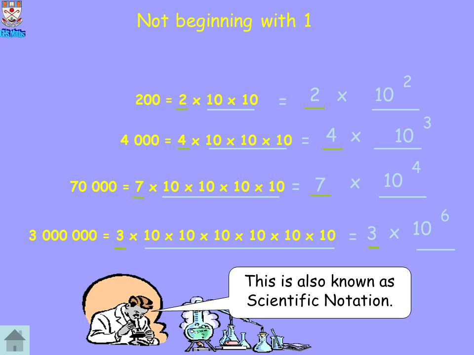 Not beginning with 1 10 2 x = 10 4 x = 10 x = 7 10 3 x = 2 3 4 6