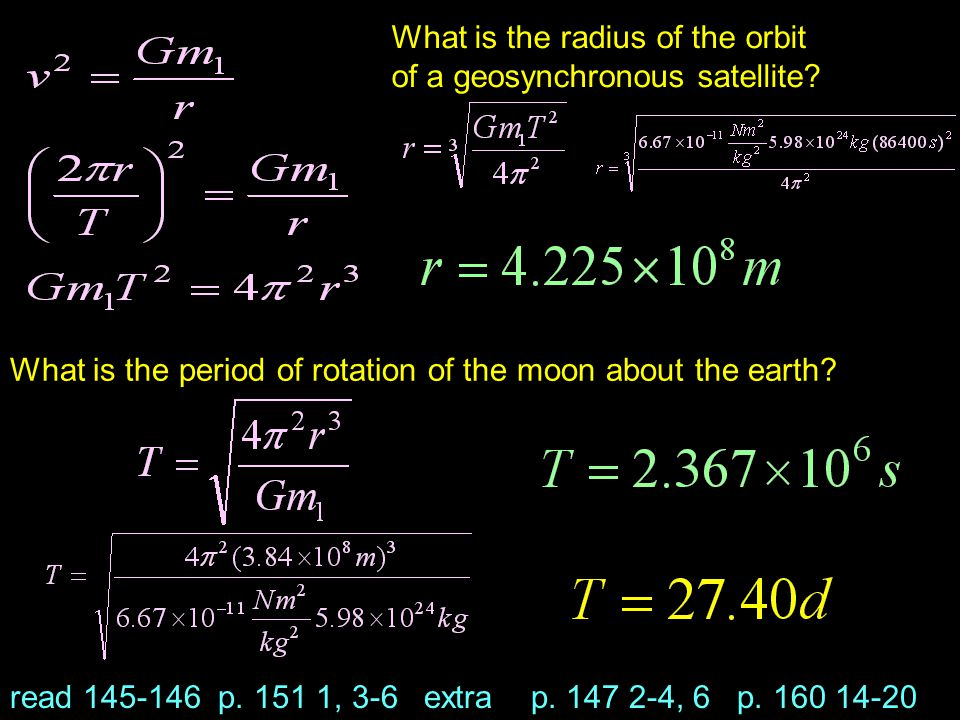 What is the radius of the orbit of a geosynchronous satellite