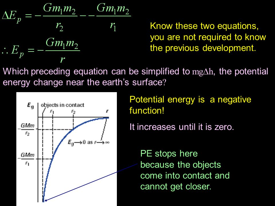 Know these two equations, you are not required to know the previous development.