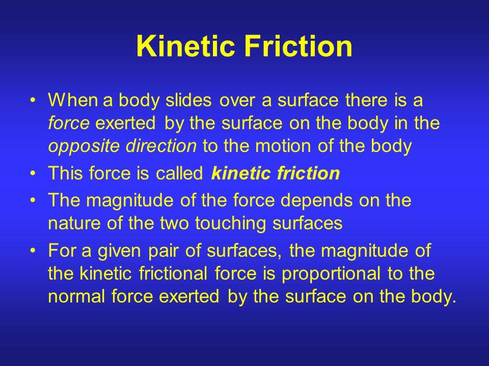 Kinetic Friction