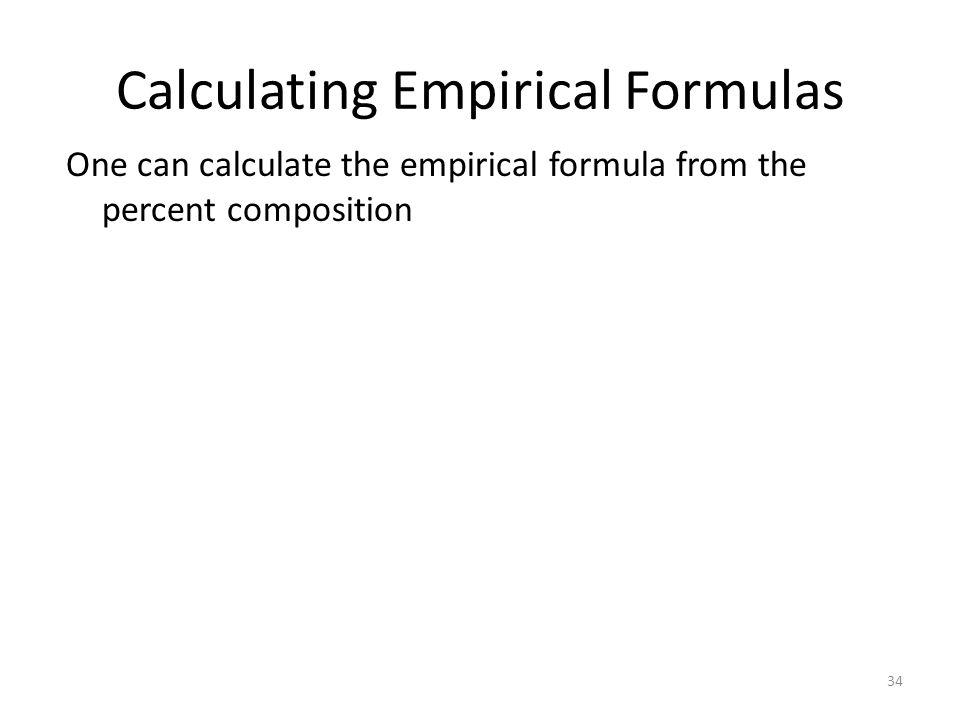 Calculating Empirical Formulas