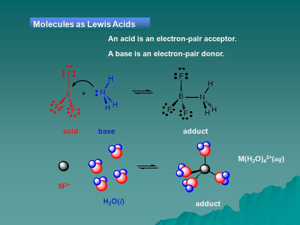 Molecules as Lewis Acids