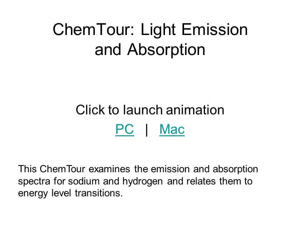 ChemTour: Light Emission and Absorption