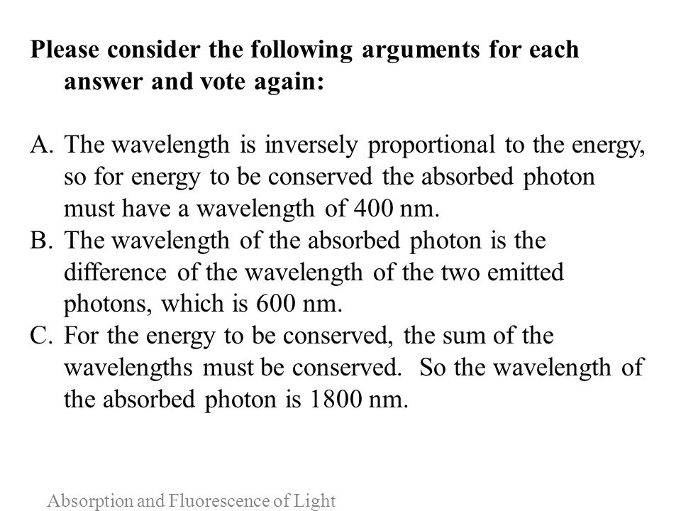 Absorption and Fluorescence of Light