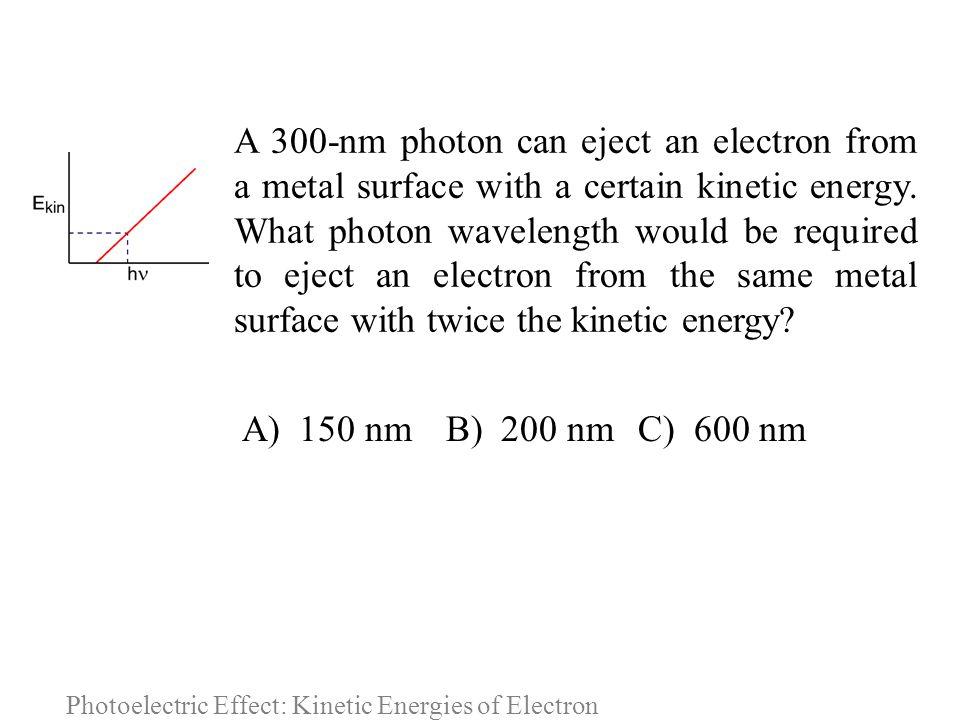 Photoelectric Effect: Kinetic Energies of Electron