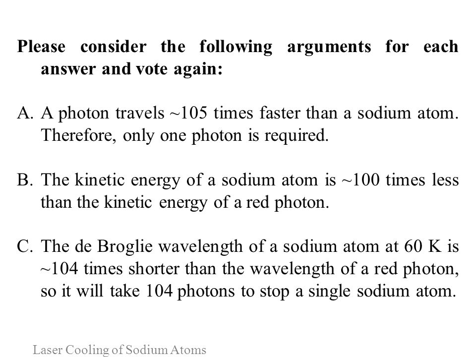 Laser Cooling of Sodium Atoms