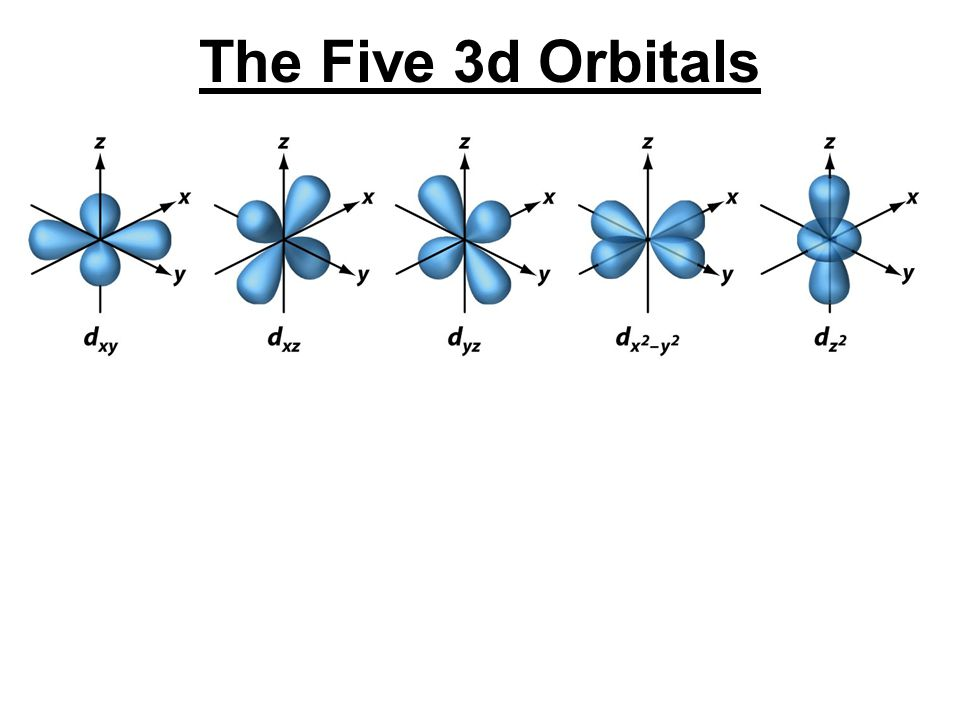 The Five 3d Orbitals