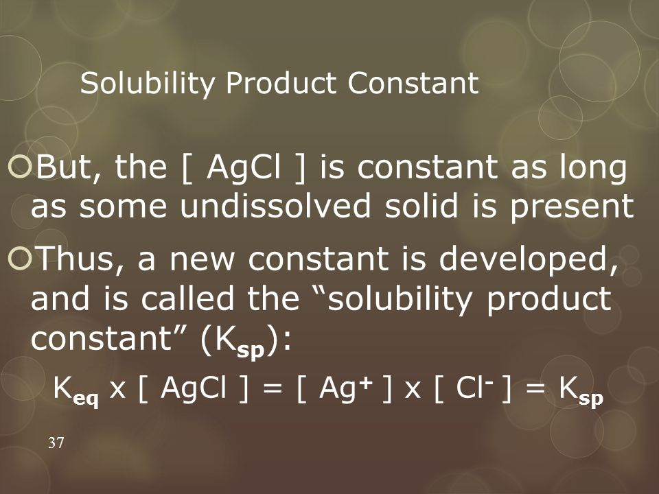 Solubility Product Constant