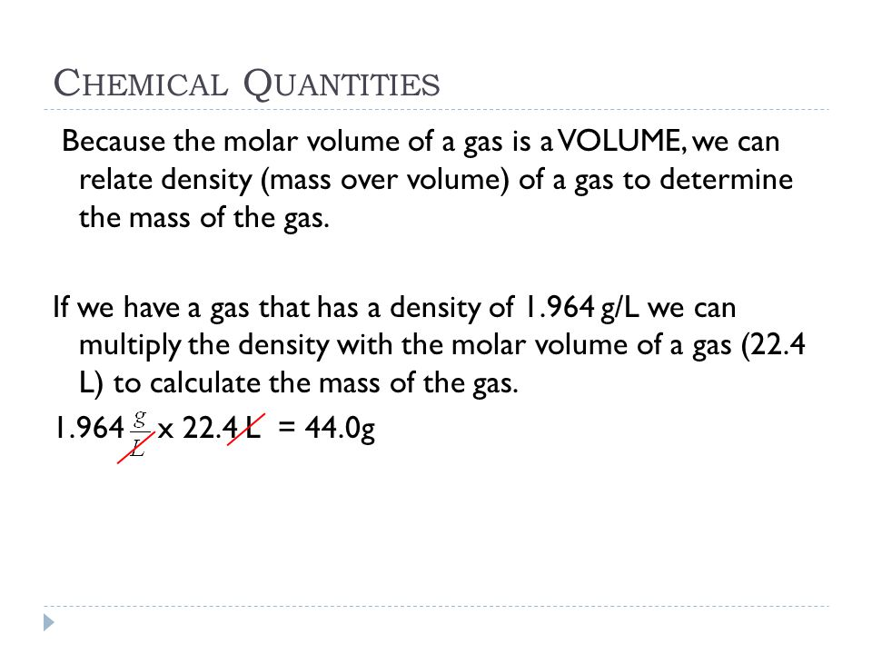Chemical Quantities