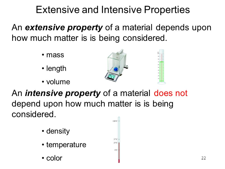 Extensive and Intensive Properties