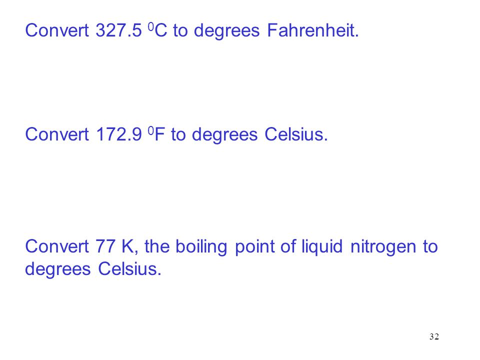 Convert 327.5 0C to degrees Fahrenheit.