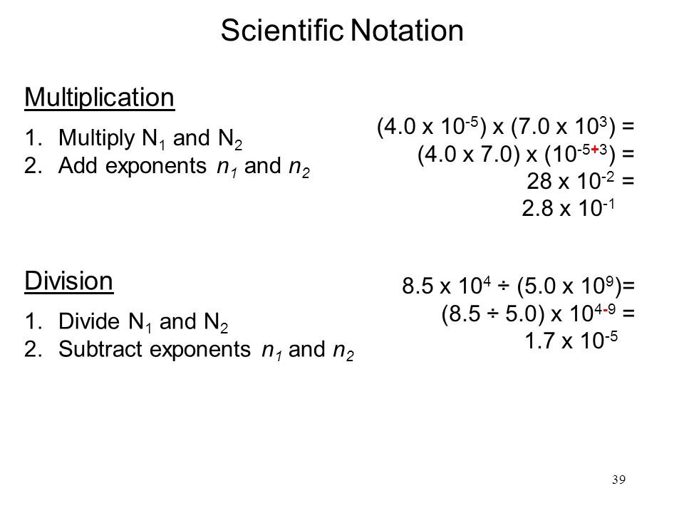 Scientific Notation Multiplication Division