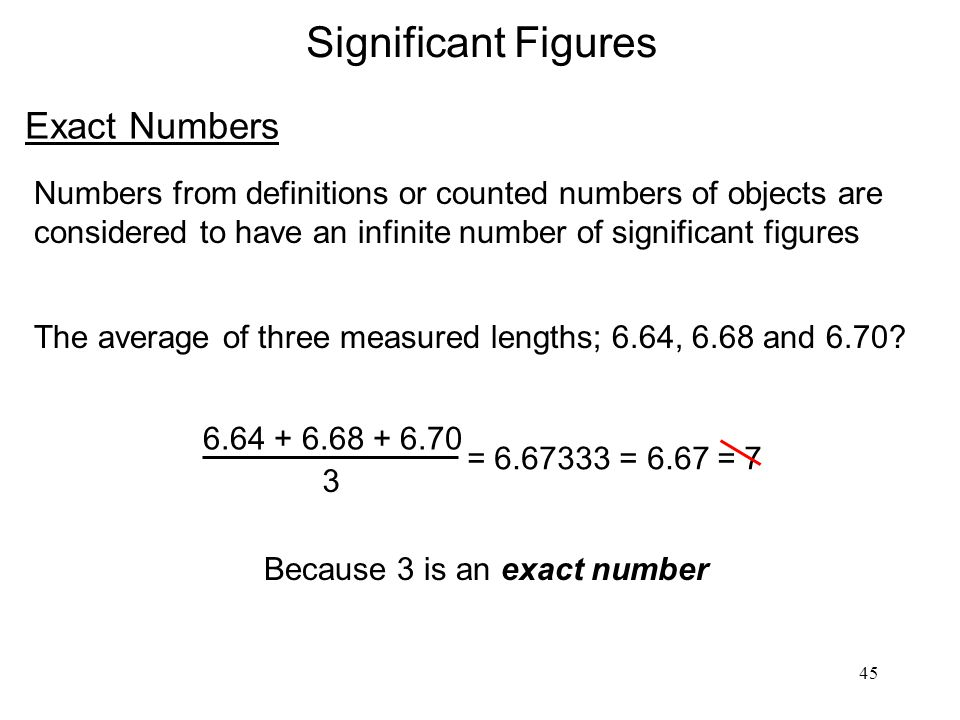 Significant Figures Exact Numbers