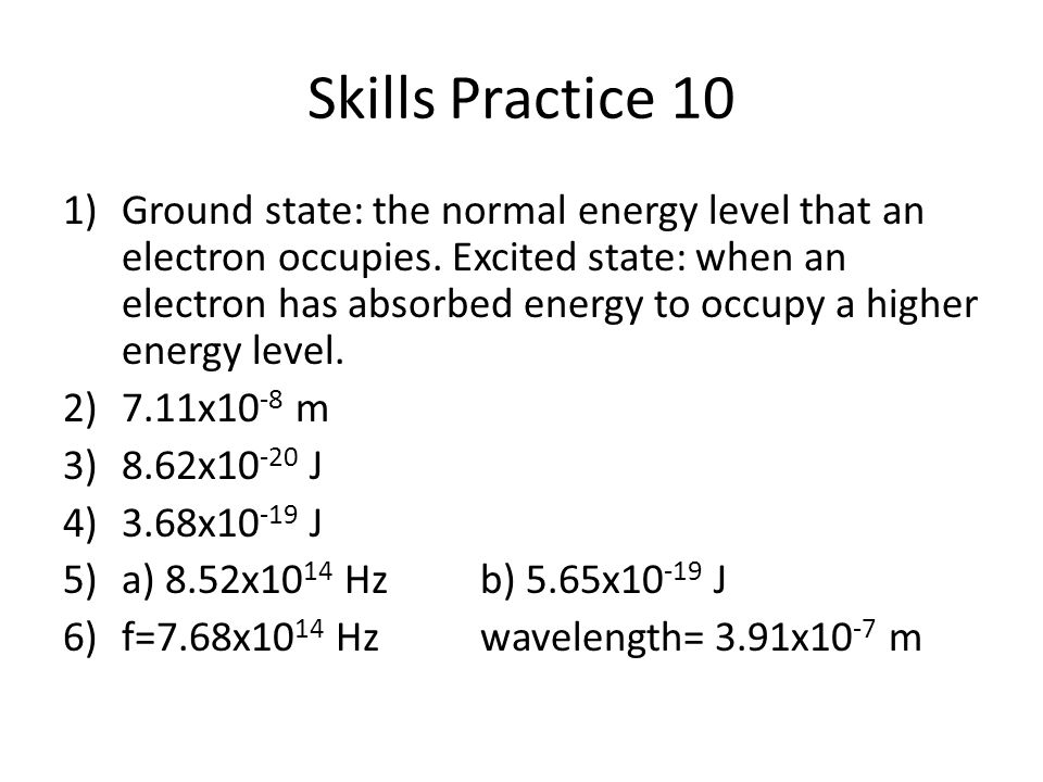 Skills Practice 10