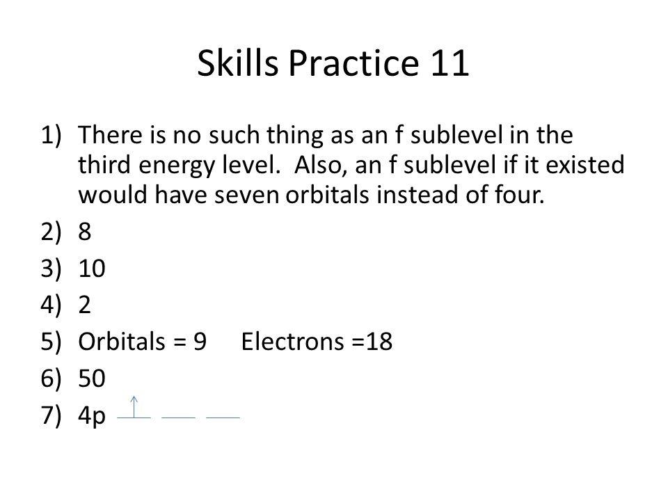 Skills Practice 11