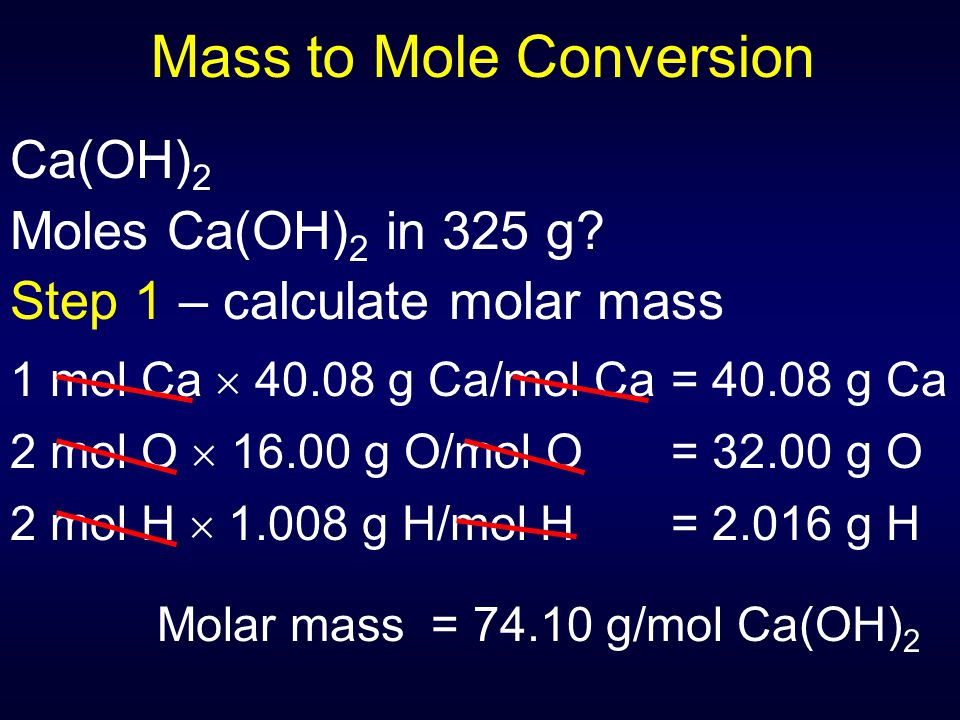 Mass to Mole Conversion