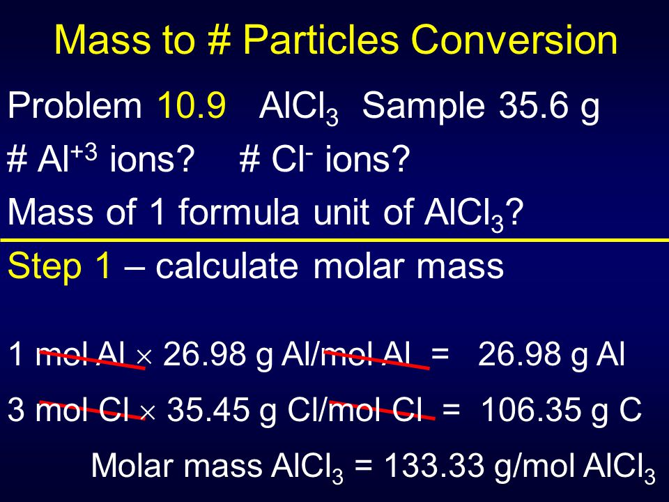 Mass to # Particles Conversion