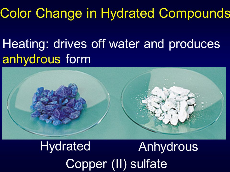 Color Change in Hydrated Compounds