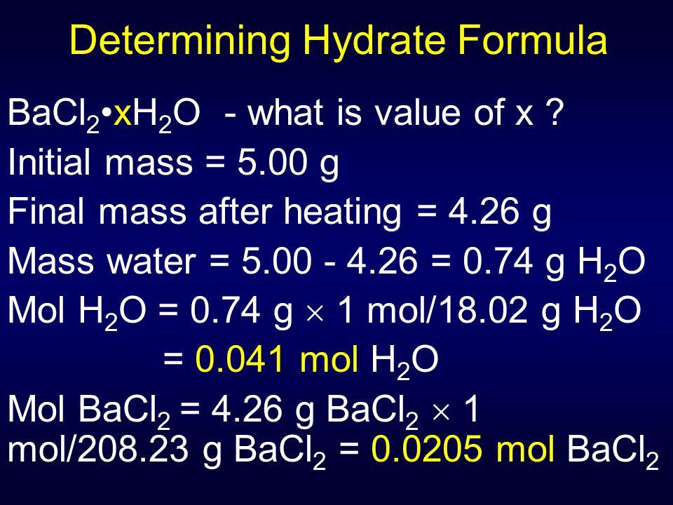 Determining Hydrate Formula
