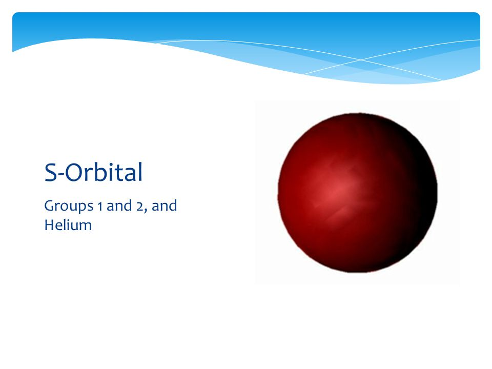 S-Orbital Groups 1 and 2, and Helium