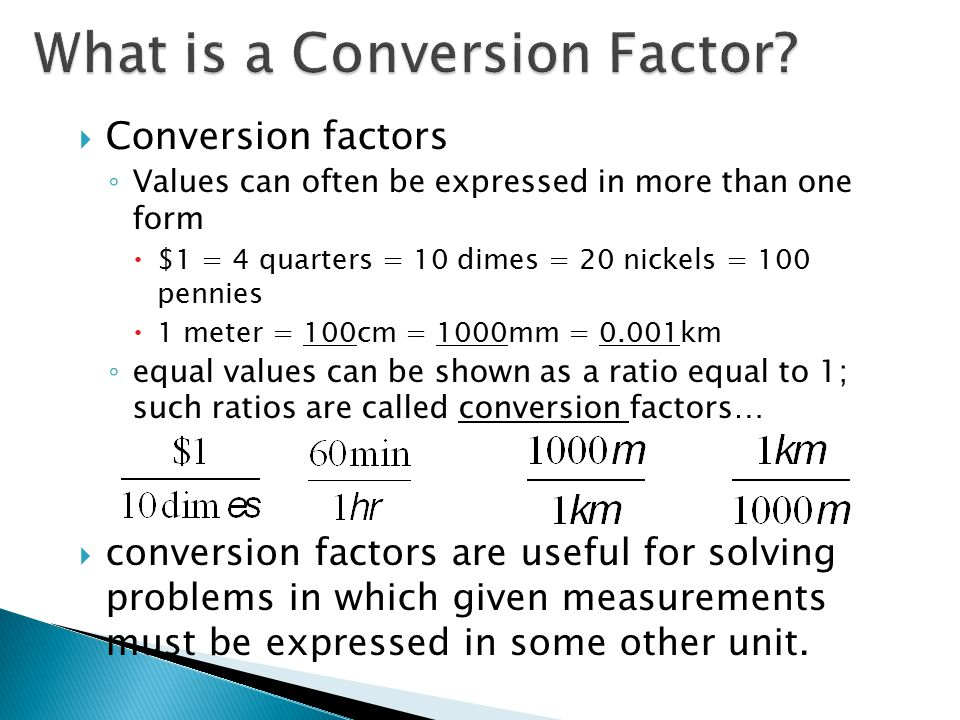 What is a Conversion Factor