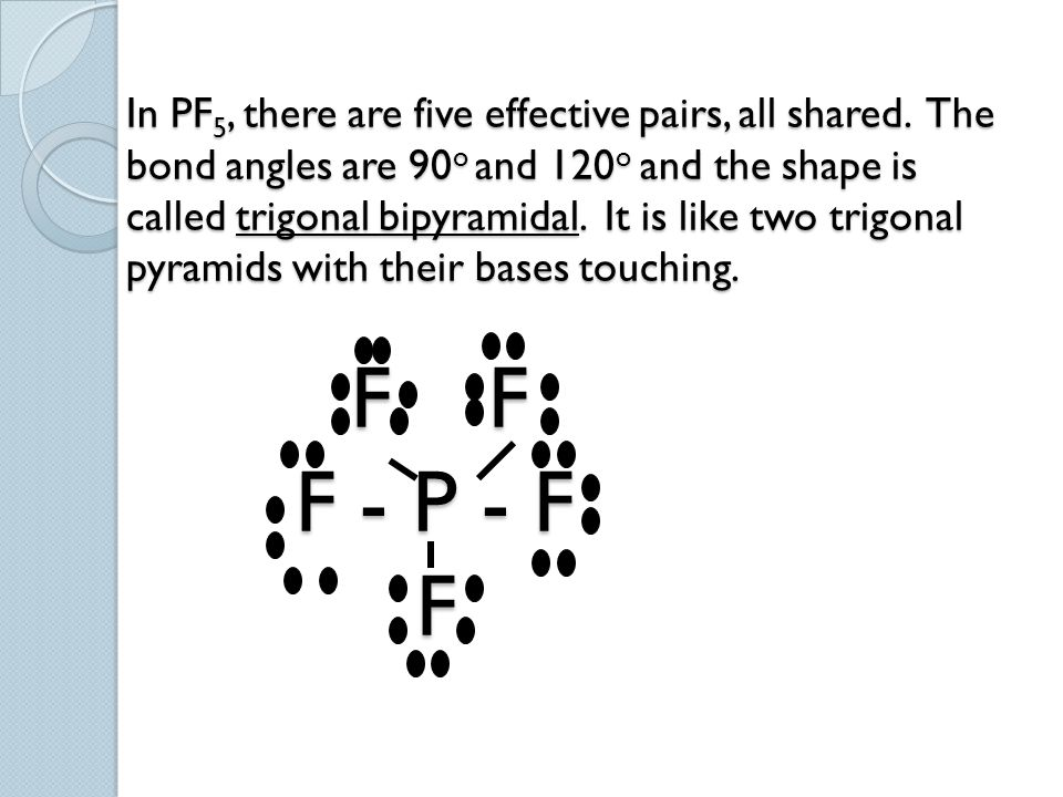 In PF5, there are five effective pairs, all shared