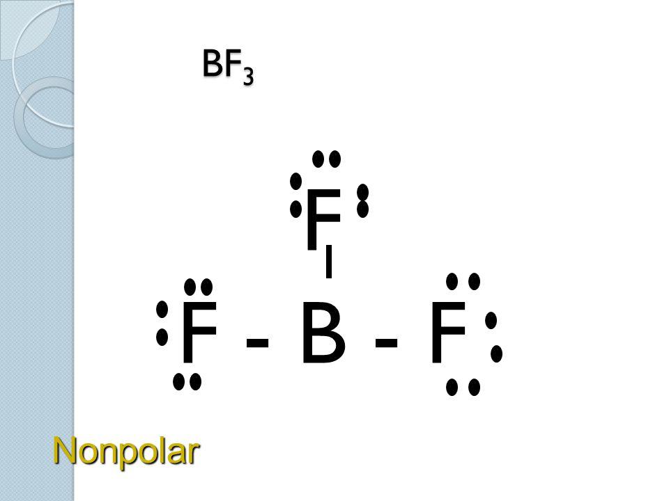 BF3 F F - B - F Nonpolar