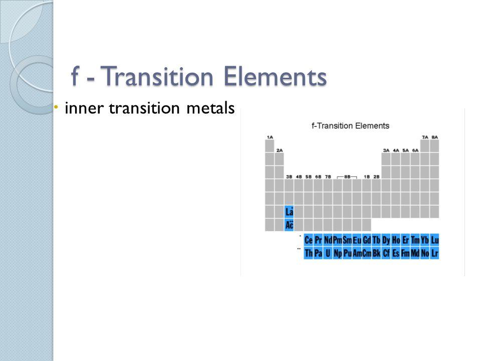 f - Transition Elements