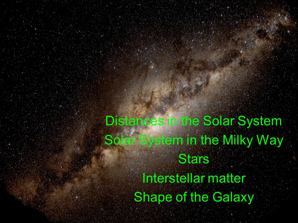 distance of milky way and the solar system - photo #8