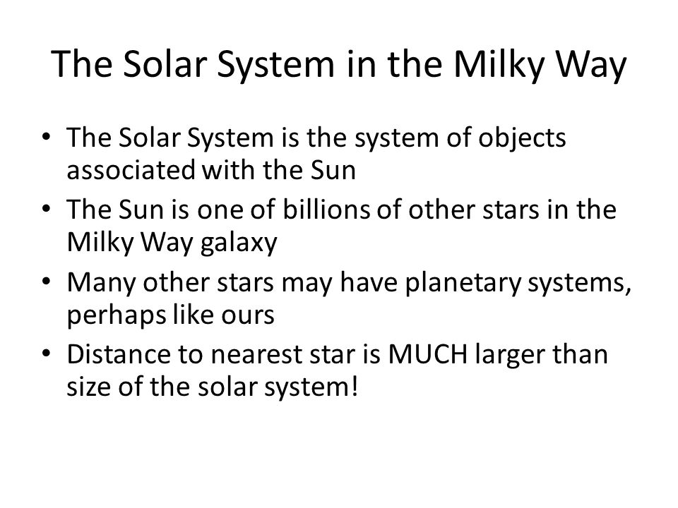 The Solar System in the Milky Way