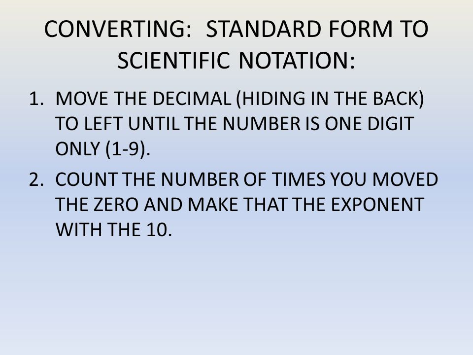 SCIENTIFIC NOTATION 6.82x10 TO THE 4TH POWER! - ppt download