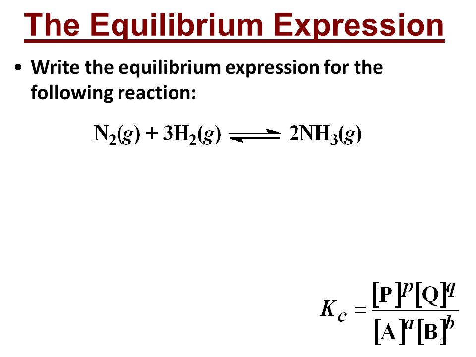 The Equilibrium Expression