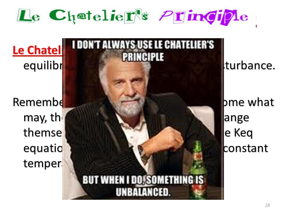 Le Châelier's Principle