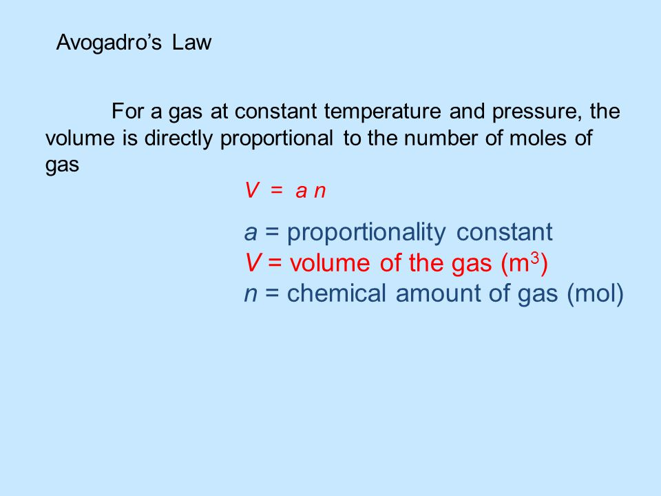 n = chemical amount of gas (mol)
