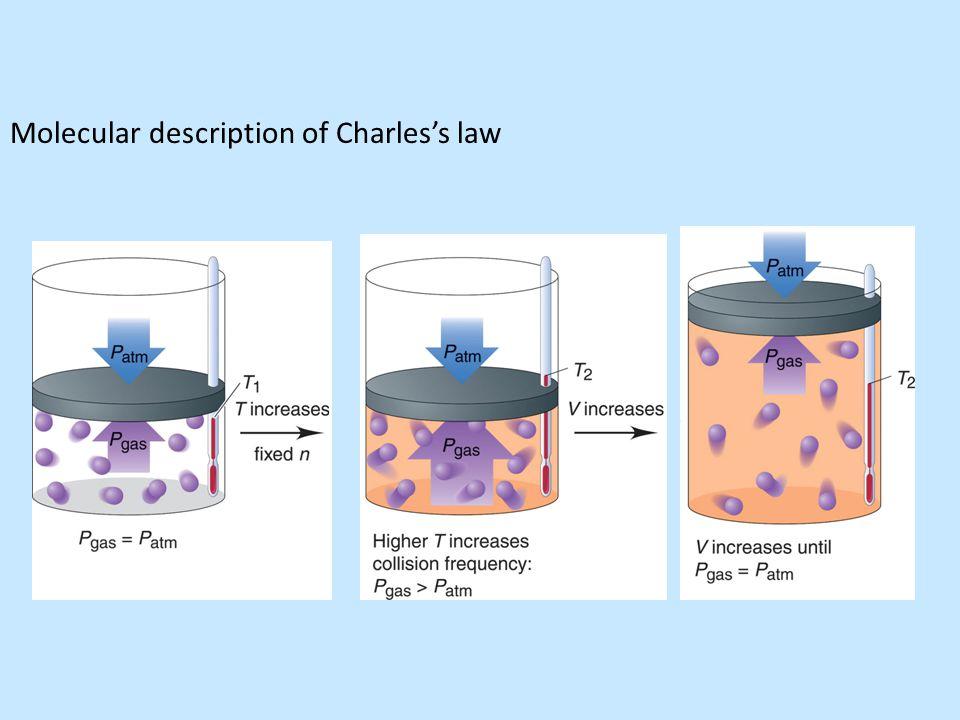 Molecular description of Charles's law