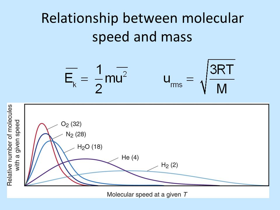 Relationship between molecular speed and mass