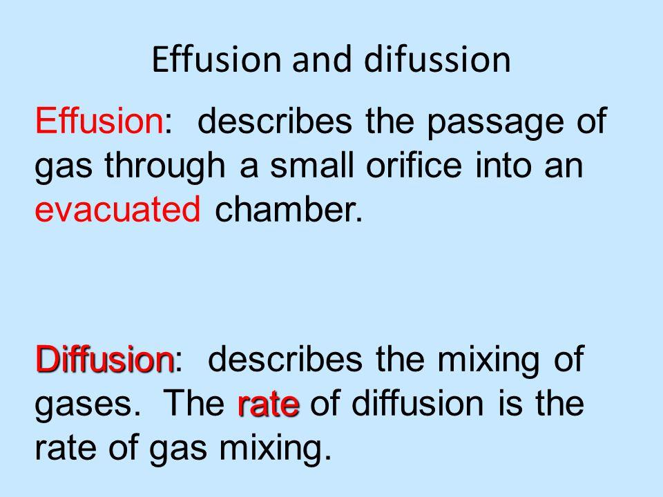 Effusion and difussion