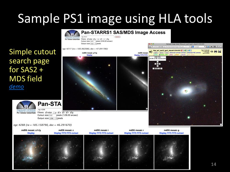 Sample PS1 image using HLA tools