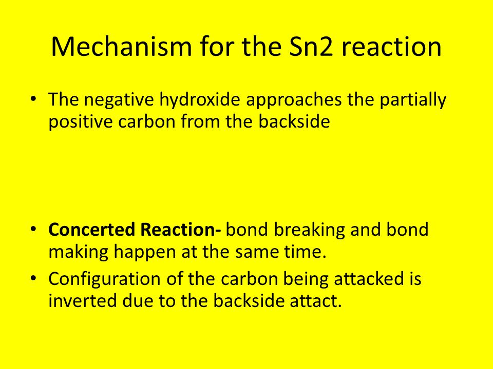 Mechanism for the Sn2 reaction