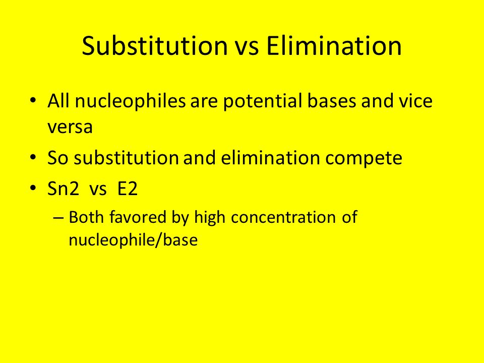 Substitution vs Elimination