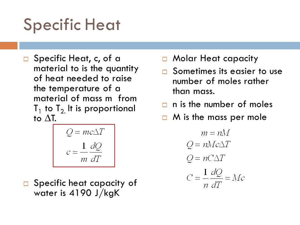 Specific Heat Chart Chemistry As close to chemistry ...