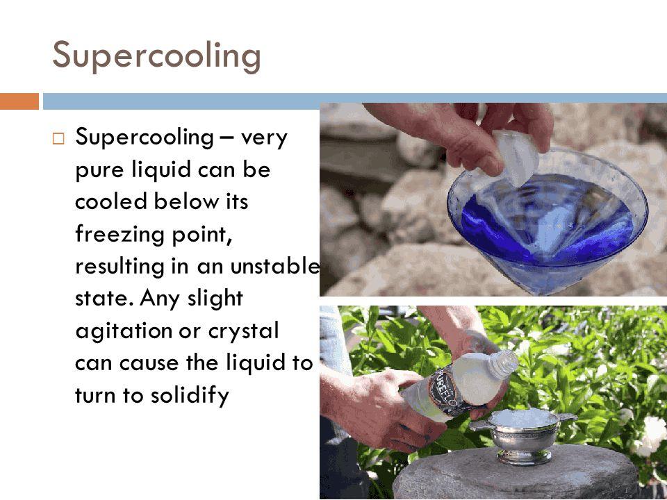 Supercooling